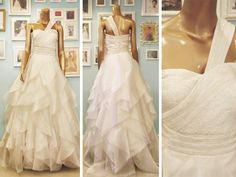 Asymmetrical wedding dress by Camille Garcia with a beaded waist and a tiered skirt made of organza. Bridal Gowns, Wedding Dresses, Exclusive Collection, One Shoulder Wedding Dress, Ready To Wear, Wedding Day, Dress Up, Bride, My Style
