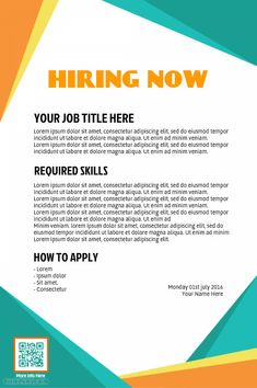 Job Hiring Poster Design Template Click To Customize Hiring - Hiring ads templates