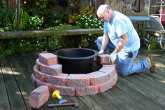 """above ground pond   Fill the rigid liner with water to 2"""" below the top of the liner"""