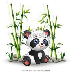 "Stock vektor ""Vector Illustration Baby Panda Sitting Among"" (bez autorských poplatků) 513711817 Panda Funny, En Stock, Snowman, Disney Characters, Fictional Characters, Illustration, Bb, English, Image"
