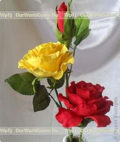 МК Розы из Фоамирана Фоамиран фом фото 12