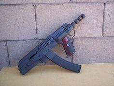 Bullpup AK Pistol.. now that's pushing the envelope of Mr. Kalashnikov's design.
