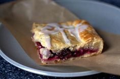 Sour Cherry Slab Pie - Baked in a 15-by-10-by-1-inch rimmed baking ...