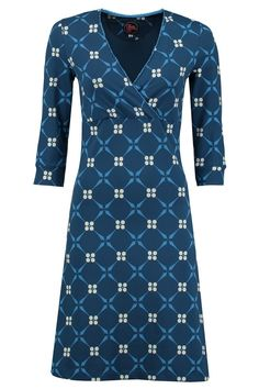 Crossover Dress Royal Blue