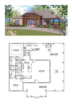 House Plan 72353 | Total Living Area: 1419 SQ FT, 2 bedrooms and 2.5 bathrooms. #coastalhome