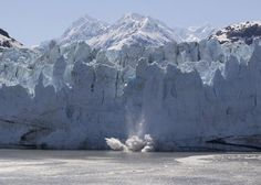 glacier calving in #Alaska  https://www.facebook.com/pages/Happy-Sails-Travel/308589819151827?fref=ts