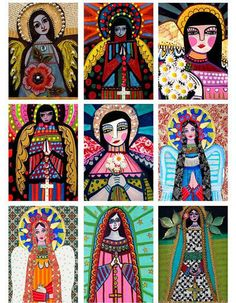 Angels ACEO card print set by HeatherGallerArt on Etsy