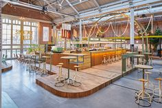 Reinvented Tram Depot as All-Day Space, Amsterdam - by Studio Modijefsky