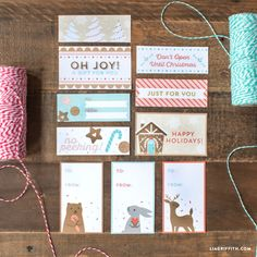 Printable Gingerbread House Gift Labels