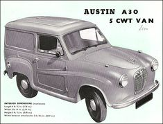 This was my first vehicle. Vintage Trucks, Old Trucks, Austin Cars, Vintage Banner, Van For Sale, Van Interior, Brochure Cover, Car Posters, Car Advertising