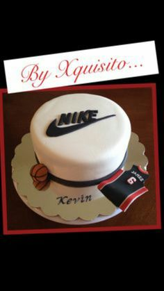 Nike Sign Cake Teen Boy Birthday 13th Ideas