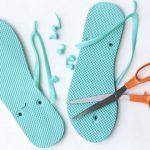 Parmak Arası Terlik İle Örgü Babet Yapımı - Kolay Babet Yapılışı - El Sanatları ve Hobi Skateboard, Flip Flops, Sandals, Shoes, Tokyo, Women, Fashion, Skateboarding, Moda