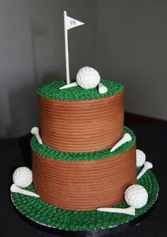 Cool baking ideas for golf cakes! More ideas at #lorisgolfshoppe