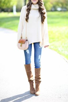 Fall outfit with over the knee boots