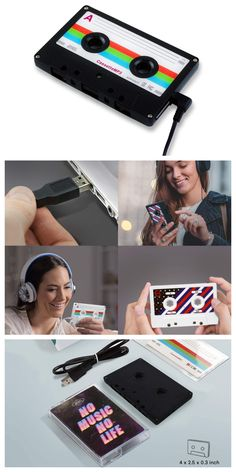 Go back in time with our cute MP3 retro music player! Take a break from your smartphone! Create your own playlist with your favorite songs. And of course, our cassette MP3 player comes with an original transparent cassette tape case! #affiliatelink #mp3player #retro Audio Music, Cassette Tape, Sound Of Music, Retro Design, Diy Cards, Mp3 Player, Smartphone, Gadgets, Songs