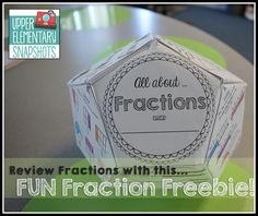 All About Fractions - a FREE dodecahedron project 4th Grade Fractions, Teaching Fractions, Fifth Grade Math, Teaching Math, Teaching Ideas, Fourth Grade, Fractions Year 3, Decimal Multiplication, Elementary Math