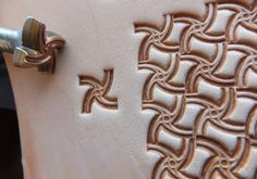01305 Basketweave Leather stamp homemade Custom by Toolpaw on Etsy, $19.00