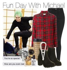 """Fun Day With Michael (Requested)"" by one-direction-outfitsxxx ❤ liked on Polyvore featuring Topshop, Yves Saint Laurent, Kate Spade, Rolex, Uncommon, Office, Burberry, Givenchy, women's clothing and women"