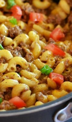 Cheesy Hamburger Skillet Review: Great, a hit with the whole family. I would add more tomatoes next time.