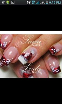 Festive Christmas Nail Designs for An outstanding Christmas nail art can help you get into the Christmas spirit.Hopefully you will find yours from this list and make you stand out this season. Xmas Nails, Holiday Nails, Christmas Nails, Christmas Quotes, Christmas Pictures, Christmas Trees, Christmas Crafts, Christmas Decorations, Fabulous Nails