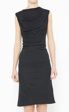 Black Ruffled Dress.