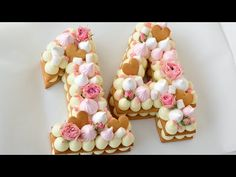 "# Cake ""Dairy girl "" Step by step recipe. How to build and decorate cream cake Cream Biscuits, Cookies Et Biscuits, Cake Cookies, Cupcake Cakes, 14th Birthday Cakes, Alphabet Cake, Bolo Cake, Biscuit Cake, Number Cakes"