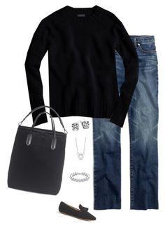 """""""Untitled #4037"""" by shopwithm ❤ liked on Polyvore featuring J.Crew, Madewell, Tiffany & Co., Allurez and Blue Nile"""