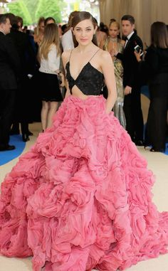 Laura Osnes from 2017 Met Gala...  Wow, Imgaine this in bridal tones. Try adding embellishments with the wedding colors for that special touch.