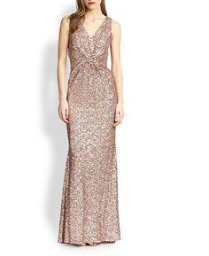 Twist Sequin Gown by Badgley Mischka