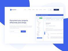 DocuRocket - Documentation for organizations by Maciej Balasiński  UX / UI DEsign webdesign landing page clean simple white