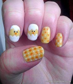 Spring nail art.