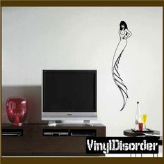 Mermaid Wall Decal - Vinyl Decal - Car Decal - CF23081