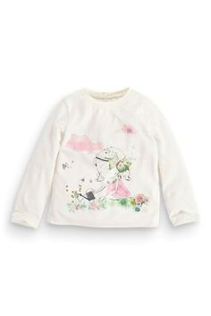 Buy Ecru Girl T-Shirt from the Next UK online shop Little Fashion, Baby Girl Fashion, Kids Fashion, Next Clothing Kids, Girls Tees, Shirts For Girls, Kids Outfits, Cute Outfits, Design Girl
