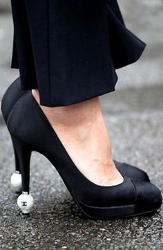 Chanel Shoes in Paris. Details in street style.  LOVE LOVE LOVE......oh how I miss wearing high heels.