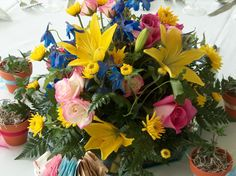 Wedding Reception Flowers, Fresh Flowers, Gift Baskets, Day, Floral, Plants, Gifts, Plant, Favors