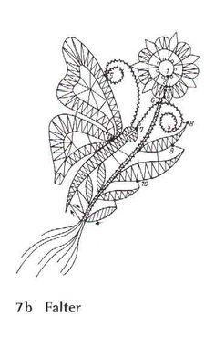 Dekorative Klöppelbilder – serena stella – Webová alba Picasa Bobbin Lace Patterns, Textile Patterns, Embroidery Patterns, Bobbin Lacemaking, Lace Art, Cutwork Embroidery, Fillet Crochet, Crochet Butterfly, Victorian Lace