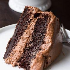 The Best Vegan Chocolate Cake - Nora Cooks Vegan Cake vegan birthday cake for 1 year old Food Cakes, Bakery Cakes, Tea Cakes, Bolo Vegan, Cake Vegan, Vegan Cupcakes, Best Vegan Chocolate, Best Chocolate Cake, Chocolate Frosting