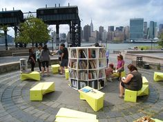 Uni, a portable reading room for public space. MoreThe Uni, a portable reading room for public space. Urban Furniture, Street Furniture, Cheap Furniture, Discount Furniture, Urban Landscape, Landscape Design, Design D'espace Public, Street Library, Urban Ideas