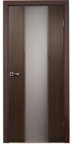 Loda Wenge Contemporary Interior Door: think of this in 3 vertical wood pieces