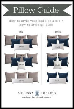 How to Style Your Bed Like a Pro - Melissa Roberts Interior Bedroom Bed, Master Bedroom, Bedroom Decor, Bed Room, Home Staging, House Design, Decorative Bed Pillows, Modern Pillows, Modern Bedding
