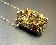Druzy necklace: amethyst drusy, gold filled, titanium druzy gold necklace, luxury gift women raw gold look sparkling