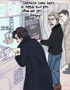 Sherlock, don't keep John waitingggg~~~<3 , by  enerjax (2013)