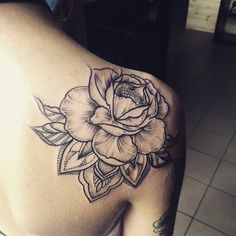 #tattoo #flowertattoo #drawing #inkedgirl #armtattoo #rosetattoo #peony #dotwork #artwork #instaart #linework #mandala #blackwork #inking