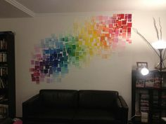 Paint chips as wall mural. I've got a million of these!