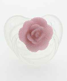 Look what I found on #zulily! Rose Flower Orthodontic Pacifier by Crystal Dream #zulilyfinds