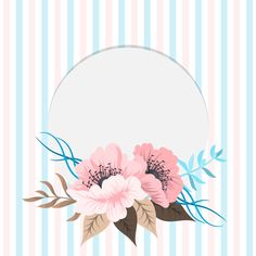 Greeting card with flowers, watercolor. Floral Wallpaper Phone, Flower Background Wallpaper, Flower Backgrounds, Vector Background, Flower Boarders, Flower Frame, Boarders And Frames, Frame Template, Flower Doodles