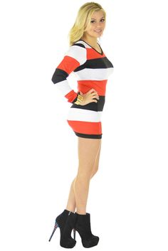 Mix It Up Red Dress | Sexyback Boutique