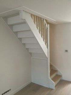 Narrow Stairs Up To Loft Attic With Closet Underneath From The