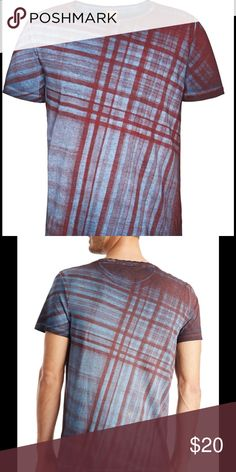 Hugo Boss t shirt The 'Tobit' by BOSS Orange boasts a bold tartan pattern at its front and back, and an allover garment-dyed finish. The soft 100% cotton t-shirt is finished with a logo plate at its front-left hem. Hugo Boss Shirts Tees - Short Sleeve