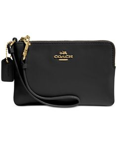 Coach Boxed Corner Zip Wristlet In Smooth Leather                              …